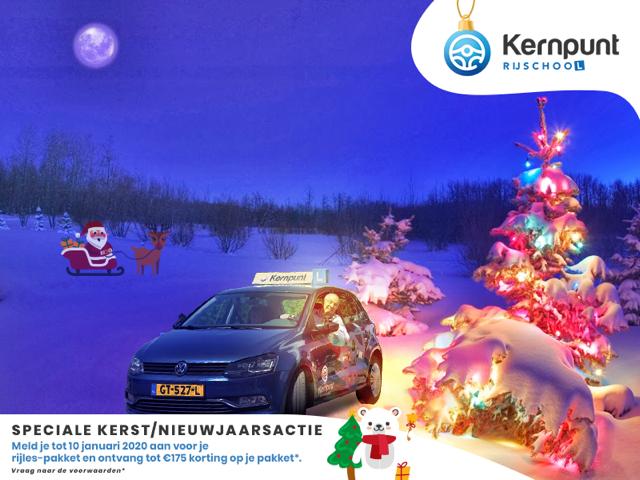 Kerst en nieuwjaarsactie rijschool Kernput Zwolle